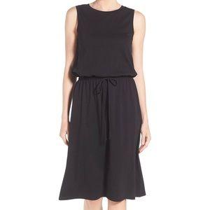 Caslon black sleeveless drawstring T-shirt dress